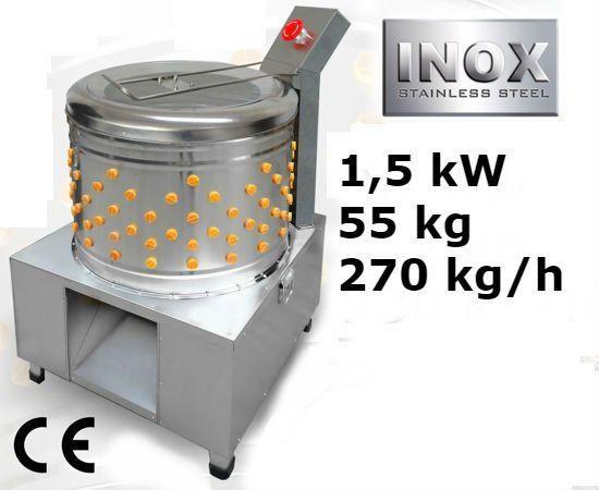 Bubnová škubačka drůbeže 270 kg/h