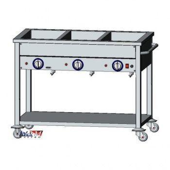 Vodní lázeň elektrická 3 x GN1/1 | EGAZ BE-3JS