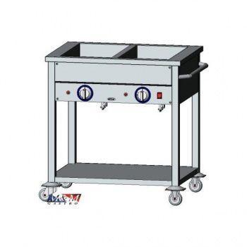 Vodní lázeň elektrická  2 x GN1/1 | EGAZ BE-2JS
