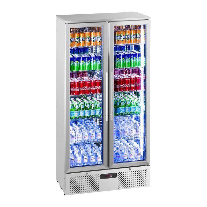 Chladničky na nápoje - 458 L - ušlechtilá ocel