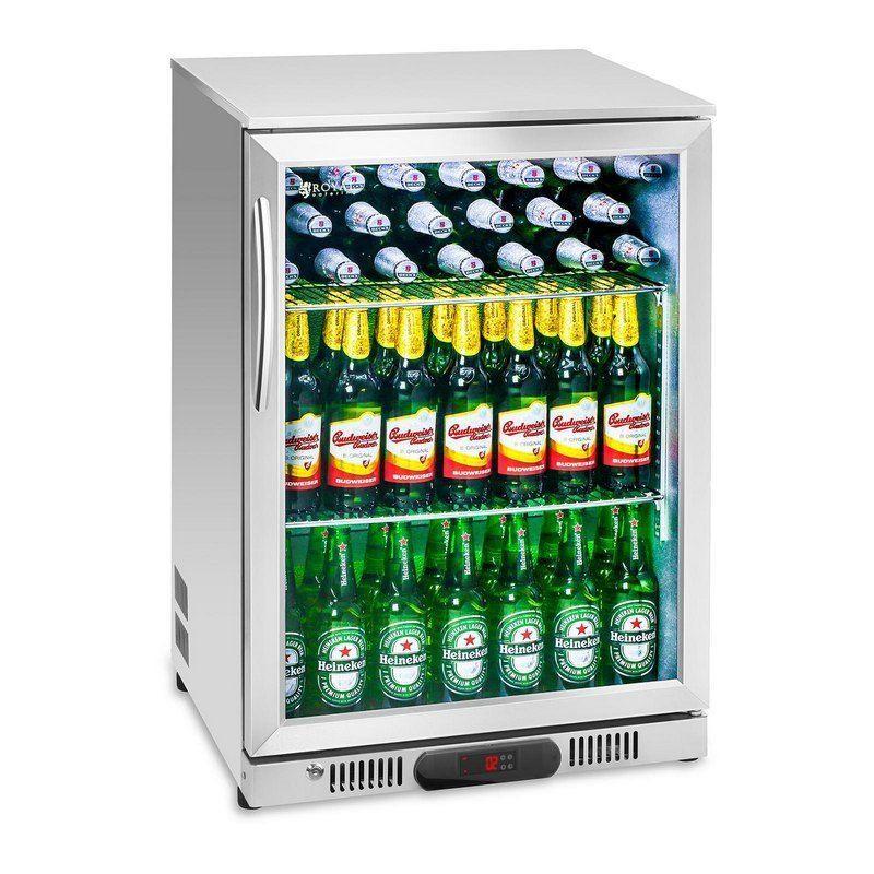 Chladnička na nápoje - 138 L - ušlechtilá ocel
