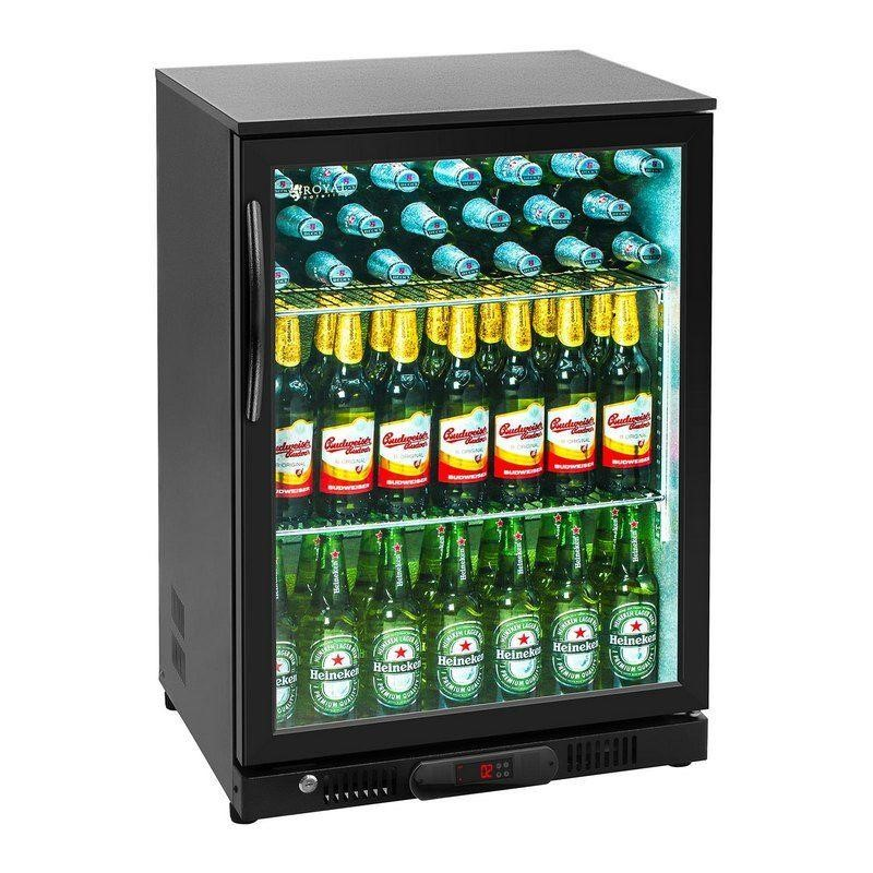 Chladnička na nápoje - 138 litrů - ocel s práškovým postřikem - černá