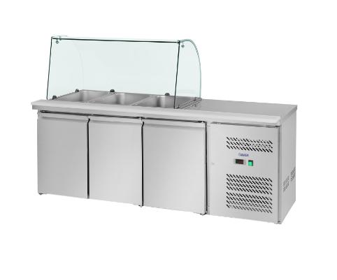 Chladící stůl s vitrínou 180 cm