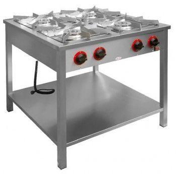 Gastronomický plynový sporák 4 hořáky s policí 24 kW