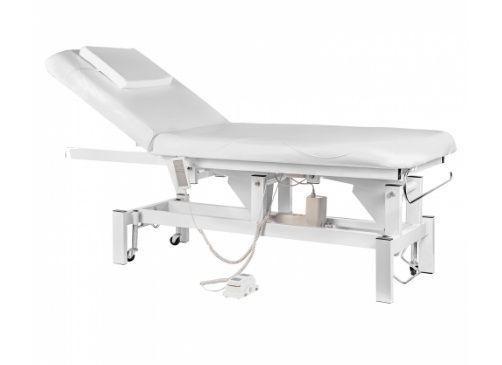 Elektrické masážní lůžko - bílé