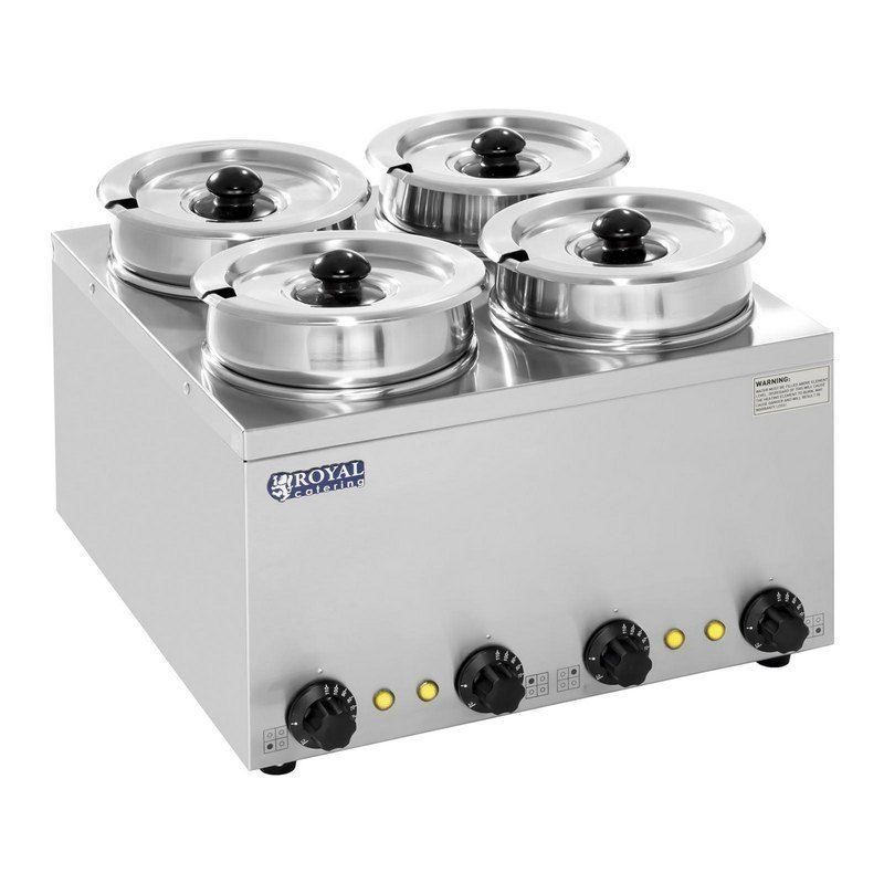 Ohřívač na polévku - 4 x 2,75 L - 600 W