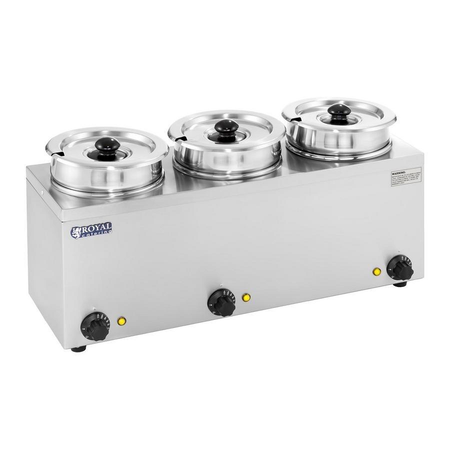 Ohřívač na polévku - 3 x 2,75 L - 450 W