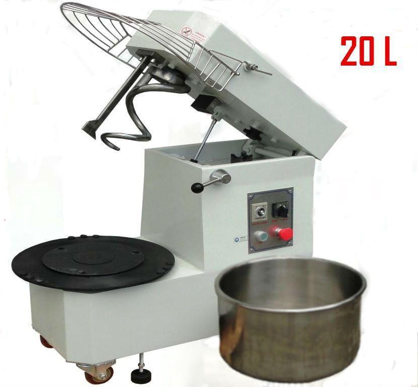 Spirálový hnětač těsta 20l 400V