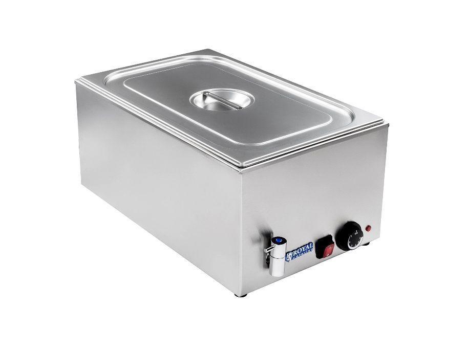Vodní lázeň - 1 x GN -1/1 - výpustný kohout